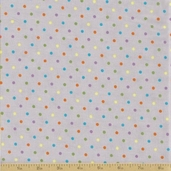 Grow with Me Cotton Fabric - Drizzle Grey Dots