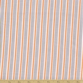 Grow with Me Cotton Fabric - Drizzle Grey Stripe