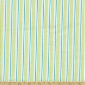 Grow With Me Cotton Fabric - Grass Green Stripes
