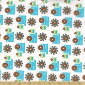 Grow with Me Cotton Fabric - Grass Green Trucks