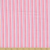 Grow With Me Cotton Fabric - Pink Stripes