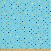 Grow with Me Cotton Fabric - Sky Blue Dot