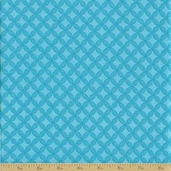 Grow with Me Cotton Fabric - Sky Blue Tile