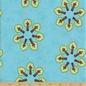 Grow with Me Cotton Fabric - Sky Blue Tree Circle
