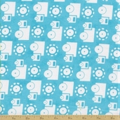 Grow with Me Cotton Fabric - Sky Blue Trucks