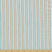 Grow With Me Cotton Fabric - Sky Stripes