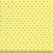 Grow with Me Cotton Fabric - Yellow Dot