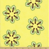 Grow With Me Cotton Fabric - Yellow Tree Circle