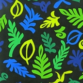 Guatemalan Flora Cotton Fabric - Fiesta Leaves - CLEARANCE
