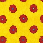Guatemalan Flora Cotton Fabric - Fiesta Yellow - CLEARANCE