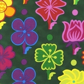Guatemalan Flora Cotton Fabric - Jewel - CLEARANCE