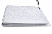 Guest Book With Pen - Flocked Swirls