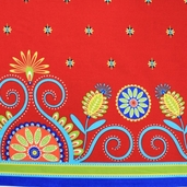 Gypsy Bandana Border - Jewel Red