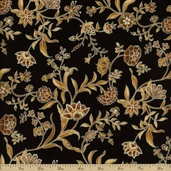 Gypsy Princess Cotton Fabric - Onyx Pearl F9011-213