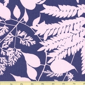Habitat Large Floral Cotton Fabric - Blue - CLEARANCE
