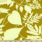 Habitat Large Floral Cotton Fabric - Green - CLEARANCE