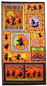 Halloween Dance Cotton Fabric Panel - Silhowitches