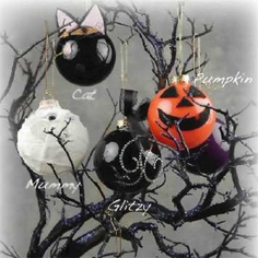Halloween Glass Ornaments