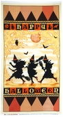 Halloween Masquerade Cotton Fabric Craft Panel