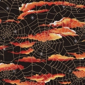 Halloween Night Cotton Fabric - Black
