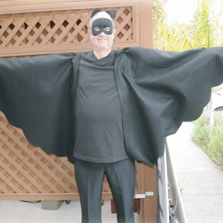 Halloween No-Sew Bat Costume