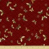 Hanabi Cotton Fabric - Butterfly Toss - Red