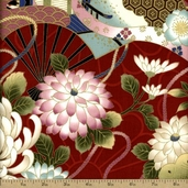 Hanabi Cotton Fabric - Red HH-201205-11C