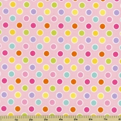 Happi Dots Cotton Fabric - Pink PWDF149