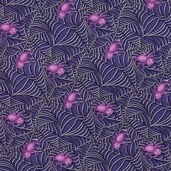 Happy Haunting Spiderwebs Cotton Fabric - Midnight