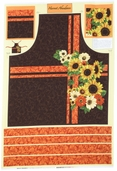 Harvest Abundance Cotton Fabric - Apron panel - Multi-color