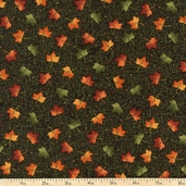 Harvest Song Leaf Dot Cotton Fabric - Green