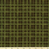 Harvest Song Plaid Cotton Fabric - Green