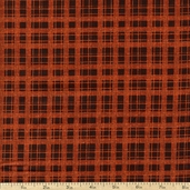 Harvest Song Plaid Cotton Fabric - Orange