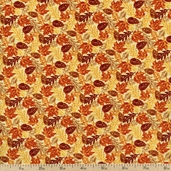 Harvest Time Fall Leaves Cotton Fabric - Multi 112-23251 - Clearance