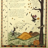 Haunted Hollow II Cotton Fabric - Poem Panel