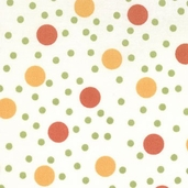 Haunted Mansion Dots - Cream Orange - Clearance