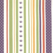 Haunted Mansion Stripe Fabric - Orange - Clearance