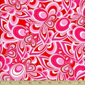 Heart and Soul Abstract Hearts Cotton Fabric - Multi