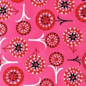 Heart Garden Cotton Fabric - Lipstick