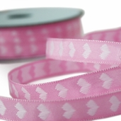 Heart Ribbon 1/2in. - 27.5yds - Pink
