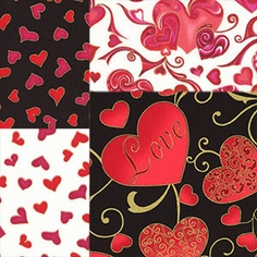 Hearts of Gold by Hoffman Fabrics