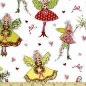 Heavenly Pixies Glitter Cotton Fabric