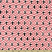Hello Gorgeous Diamonds Cotton Fabric - Coral 35506-1