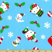 Hello Kitty Winter Toss Cotton Fabric