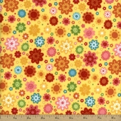 Hello Sunshine Cotton Fabric Flannel - Yellow F3151