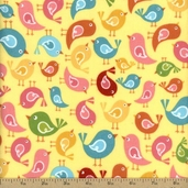 Hello Sunshine Cotton Fabric Flannel - Yellow F3153