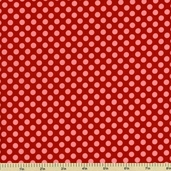 Hello Sunshine Cotton Fabric - Polka Dot - Red C3156