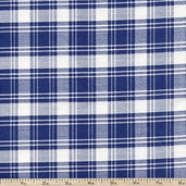 Hennessy Classic Plaid Cotton Fabric - Blue