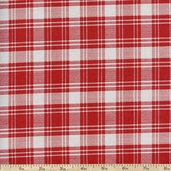 Hennessy Classic Plaid Cotton Fabric - Red