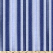 Hennessy Vertical Stripe Cotton Fabric - Blue